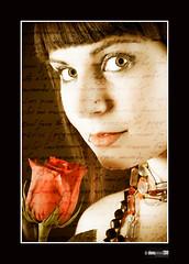 Feliz día del libro (Mi matadero clandestino) Tags: portrait girl face book eyes flor rosa libro jorge rostro sanjorge diadellibro sanjordi