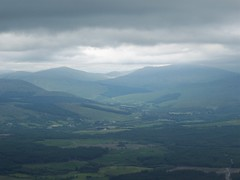 Sgurr Finnisg-aig Viewpoint, Nevis Range (gowersaint) Tags: uk houses wild summer sunlight mountains history nature rural scotland countryside woods shadows view natural country culture atmosphere gb bennevis vista fields farms celtic viewpoint forests atmospheric fortwilliam stormclouds valleys heavyclouds