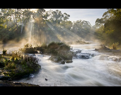 The Yarra River (nathankaso) Tags: morning sun mist fog river nikon south australia melbourne victoria tokina yarra vic sunrays 1224mm 1224 eltham d80 auselite