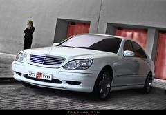 Business woman (Talal Al-Mtn) Tags: 2005 red woman white black 2004 girl lady mercedes benz dubai shot engine s du class business mercedesbenz kuwait rims v8 amg v6 geat dxb v12 sclass businesswoman 7777 450d canon450d talalalmtn