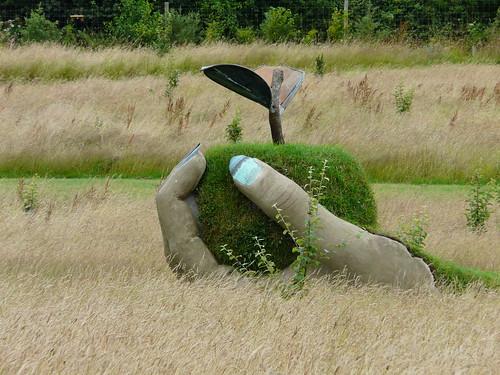 'Femal hand holding an apple' - Garden Sculpture by Brendon Murless 3713440150_365f8aee7f