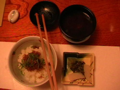 Dinner-Nasi dan sup ketam mentah