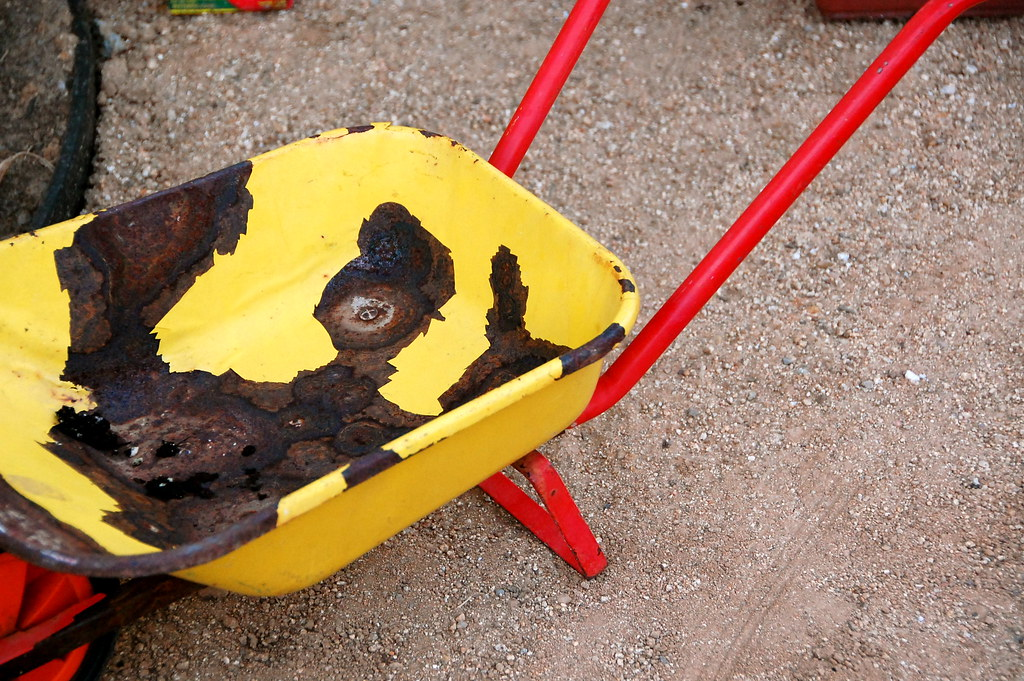 brave's vintage wheelbarrow
