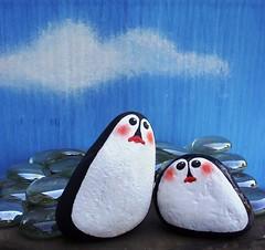 penpalset1.3 (WytcheHazel) Tags: animals penguins handmade ooak whimsical paintedrocks