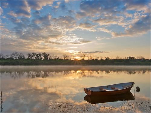 Sunrize on Oka river