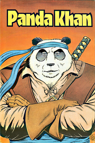 """The Chronicles of Panda Khan"" #2  Abacus Press..back cover art by Dave Garcia (( 1987 ))"