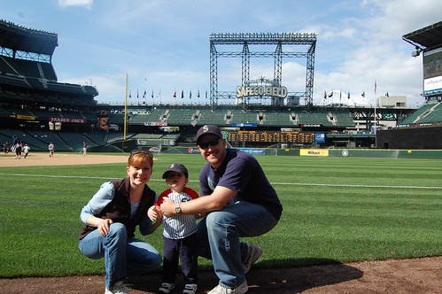 On the field at Safeco.
