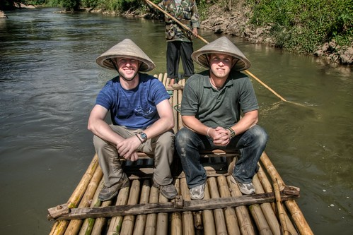 Doug & Jeff on the Bamboo Raft