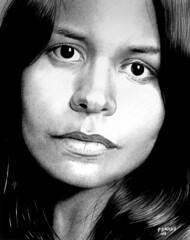 Flickr contact 02. Alessandra (pbradyart) Tags: portrait bw art pencil sketch artwork drawing pencildrawing pencilportrait
