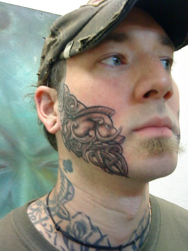 Celtic Face Tattoos