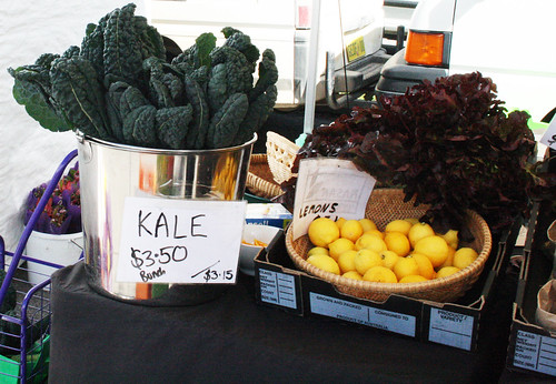 kale and lemons for sale