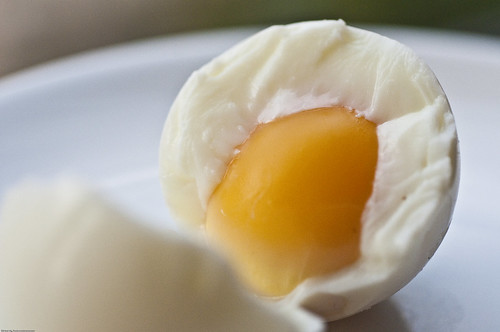 If you see signs of green coloration on the yolk, then you've over-boiled it.