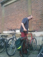 313 of 365: Parking bike at Pembroke for Oast House Quaker Meeting
