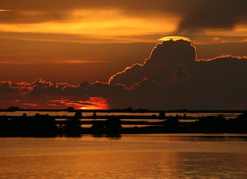 The Setting of the Sun Over Cedar Key