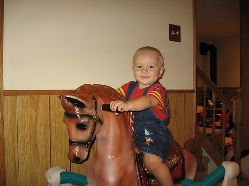 Kam riding horse