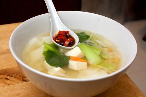 kueh teow noodle soup