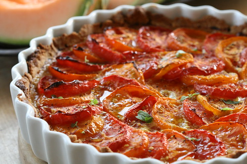 ... goat cheese tart you spread on the tart here s a french tomato tart