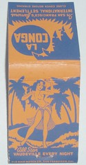 LA CONGA SAN FRANCISCO CALIF. (ussiwojima) Tags: sanfrancisco california bar advertising lounge cocktail tiki girlie matchbook matchcover laconga