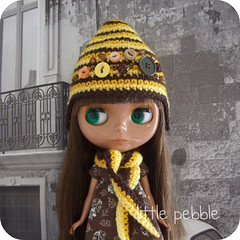 Handmade Gnome Hat and Scarf Set (yellow)