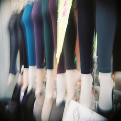 Leggings (Eric Reichbaum) Tags: feet stockings holga lomo lomography legs korea seoul leggings