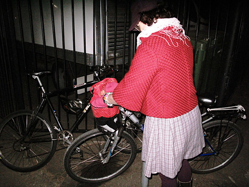 Red Jacket & Bike Locking