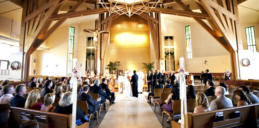 St. Maximilian Catholic Church Agoura Wedding Ceremony