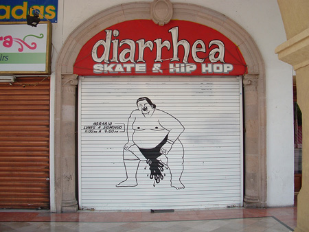 Diarrhea: funny shop name
