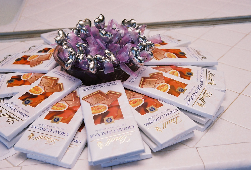 Lindt Chocolate Wedding Favors Lindt Chocolate 40th Wedding