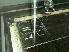 Lasering an smd jig