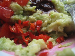 Making the guacamole