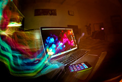 macbook pro + Brew = What dreams are made of ;) (lomolibertine) Tags: slowshutter setup worcestershire iphone macbookpro nikonfisheye nikond80 skgcreate colorsinourworld