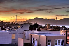 Golden Gate From The Roof - San Francisco, California, USA (Rich Capture) Tags: sanfrancisco beautiful landscape goldengatebridge richard canonef2470mmf28l canon50d richardmatyskiewicz matyskiewicz