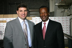Senator Peters and County Executive Jack Johnson
