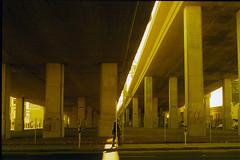 (freeezy) Tags: sf california street urban usa film yellow analog 35mm 50mm highway san francisco filter metropolis amerika beton kalifornien x700 y2