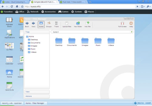 File management interface, similar to linux file management interface.