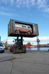 High top? (Dave S Campbell) Tags: window vw docks truck bay ship harbour 9 route aberdeen autos tow