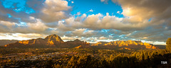 Sedona Panorama (doveoggi) Tags: sunset arizona panorama clouds sedona places