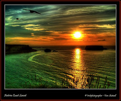 Antrim Coast Sunset (Irishphotographer) Tags: sunset sky mountain mountains art beach nature water colors beauty sunshine birds clouds sunrise golden colorfull wildlife shoreline shore stunning celtic sureal skys touring irishart jan10 kinkade wishiwasthere supershot firstdayofwinter lastdayoftheyear beautifulireland nakedbeauty anawesomeshot colorphotoaward besthdr surfinginireland imagesofireland colourartaward worldwidelandscapes picturesofireland sheildofexcelence pentaxk20d skyascanvas goldenheartaward goldenvisions irishphotographerkimshatwellireland irishphotographer calendarofireland antrimcoastsunset breathtakingphotosofnature beautifulirelandcalander wwwdoublevisionimageswebscom