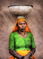Indian woman (momentaryawe.com) Tags: portrait woman india indian jaipur hdr traditionaldress rajastan d80 momentaryawe