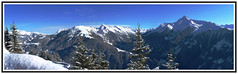 Penken Panorama (crafteelady) Tags: blue trees sky panorama white snow mountains austria tirol crispy blueskies tyrol picnik zillertal mayrhofen penken fotocompetition fotocompetitionbronze