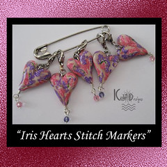 Iris Hearts Crochet Stitch Marker