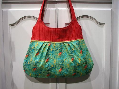 big pleated bag