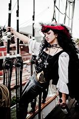 Pirates of the Gulf of Mexico (darktiger) Tags: galveston sexy fashion canon model colorful photoshoot abby pirate 35l strobist 580exii 5dmarkii