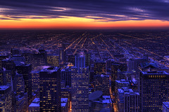 (Kevin Dickert) Tags: city nightphotography sunset sky urban chicago building skyline architecture night clouds skyscraper buildings grid downtown cityscape skyscrapers loop dusk fromabove explore highrise canon5d bluehour lookingdown hdr highdynamicrange downtownchicago nightfall helmutjahn daleycenter thompsoncenter citygrid leoburnett canonef2470mmf28l blueperiod urbanchicago abovestreetlevel nightgrid iamhydrogen kevindickert titletrust