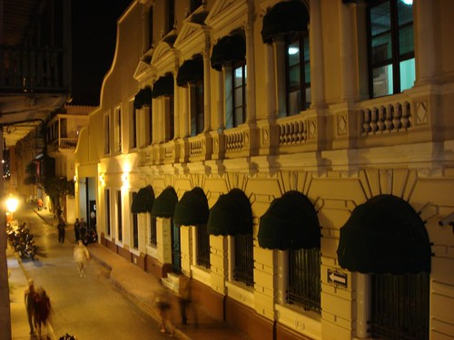 Cartagena night street scene...