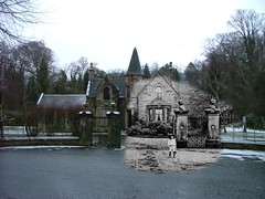 then in now cathcart cemetery (Dave S Campbell) Tags: park old white black church cemetery glasgow southside then bandstand now linn past cathcart blend