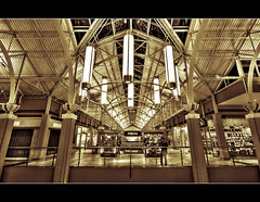 Newport Center Mall, Jersey City (DP|Photography) Tags: monochrome sepia jerseycity duotone hdr simonmalls newportmall shoppingmalls sigma1020mm shoppingcenters photomatix tonemapping splittoning architecturehdr buildinghdr debashispradhan dpphotography newportcentermall jerseycitybuildings symmetryinarchitecture dp|photography