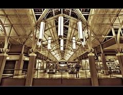Newport Center Mall, Jersey City (DP Photography) Tags: monochrome sepia jerseycity duotone hdr simonmalls newportmall shoppingmalls sigma1020mm shoppingcenters photomatix tonemapping splittoning architecturehdr buildinghdr debashispradhan dpphotography newportcentermall jerseycitybuildings symmetryinarchitecture dp photography