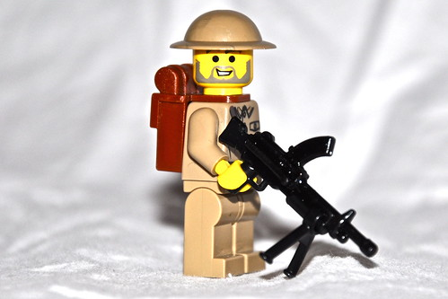 Canadian soldier custom minifig with brengun