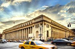 James Farley Post Office (Tony Shi Photos) Tags: nyc newyorkcity architecture manhattan usps madisonsquaregarden hdr pennstation postalservice generalpostoffice jamesfarleypostoffice mainpostoffice  unitedstatespostoffice   moynihanstation nikond700     thnhphnewyork  jamesfarleybuilding tonyshi